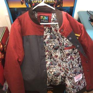 Men's Marvel Ironman Varsity Jacket size Medium